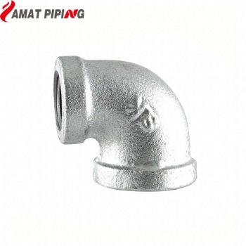 Malleable 90° Galvanised Reducing Elbow F/F